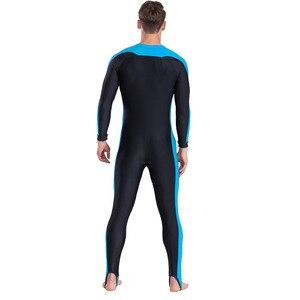 Image 5 - SBART UPF 50 + likra dalış giysisi anti UV tek parça döküntü bekçi uzun kollu mayo sörf kıyafeti erkekler kadınlar güneş koruyucu
