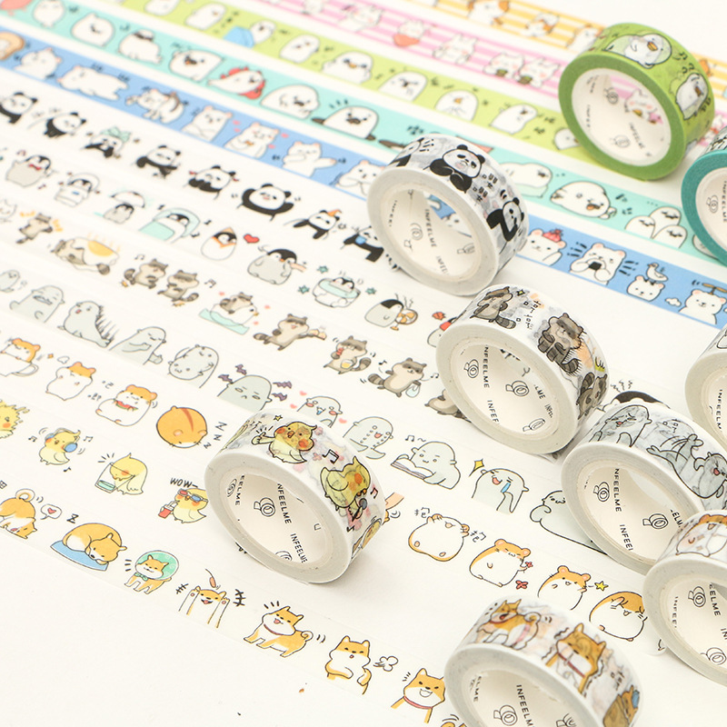 Adorable Animals Cats Washi Tape Decorative Adhesive Tape Diy Decor Scrapbooking Sticker Label Stationery
