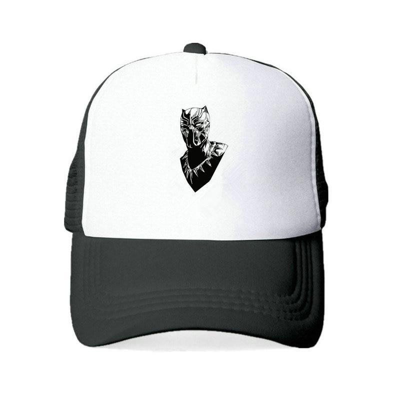 Black Panther Logo Flex Fit Hat Grey