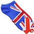 5x пара Мода Характер Британский Флаг Шаблон Носки Для Мужчин