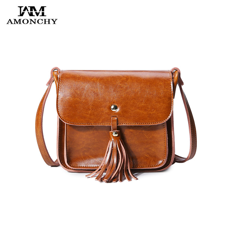 Summer Fashion Tassel Messenger Bag 100% Genuine Leather Women's Shoulder Crossbody Bags Retro Casual Small Handbags For Ladies women genuine leather shoulder bag tassel messenger bags real leather cowhide spring summer shoulder bags small crossbody bags