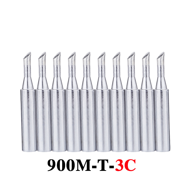 10pcs/lot Solder Iron Tips 900M-T-3C Lead-free Metal Replacement Welding Tip For 936 Soldering Station