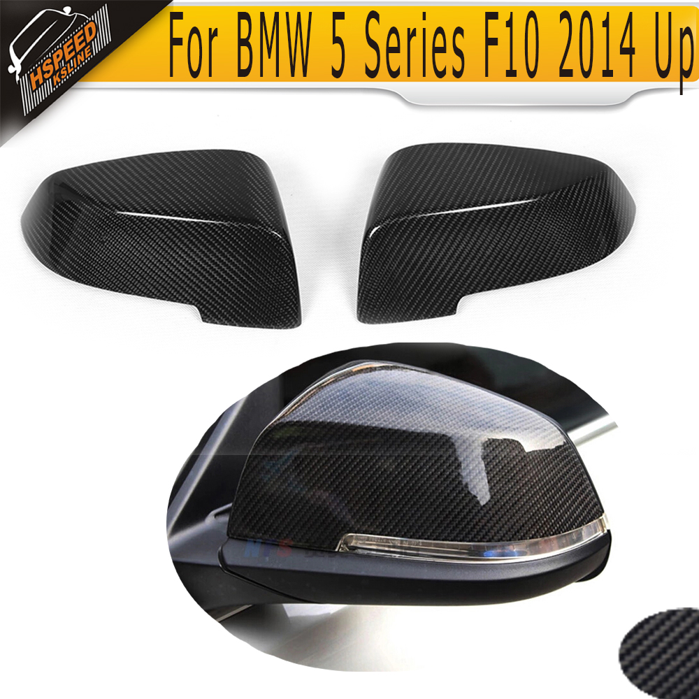 5 6 7 Series Carbon Fiber Car rear back view mirror covers Caps for BMW F10 14-16 F12 F06 14-16 F01 F02 13-15