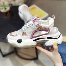 2019 Hot Sale Gym Sneakers For Women Luxury Brand Girls Sports Shoe Designer Running Shoe 2019 Women Thick Soled Ladies Sneakers
