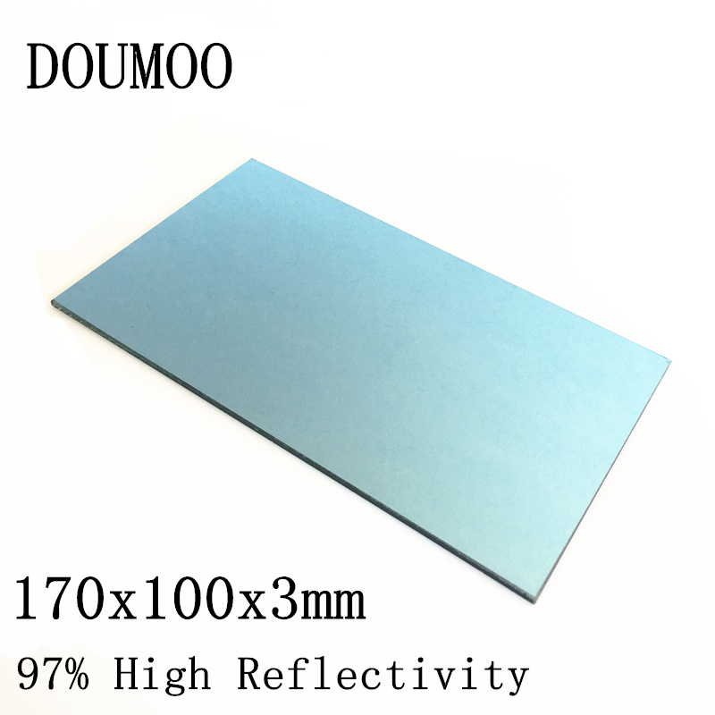 2PCS 170x100x3mm Projector Reflector Mirror DIY Projector Accessories 97% High Reflectivity Lens For 7inch -5.8 inches Projector