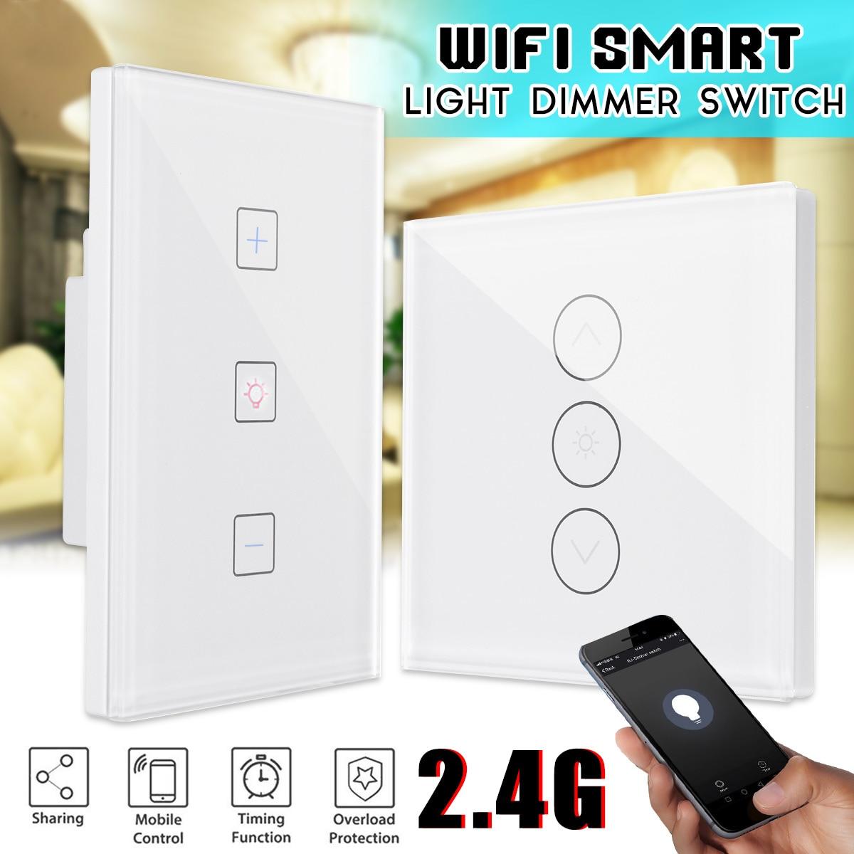 Smart Light Dimmer 100 240V Wall Smart WiFi Touchs Dimmer