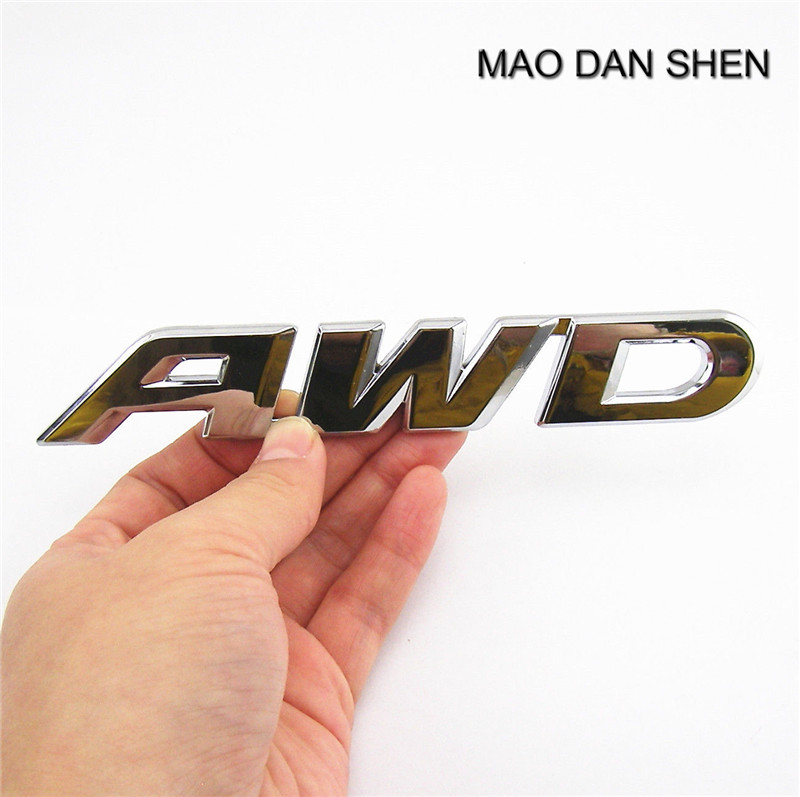 Car styling Pure Metal 3D AWD Emblem Badge Auto Rear Tail Decorative Sticker For Off-Road SUV Pegatinas de coches auto car chrome awd for cx 5 trunk emblem badge sticker