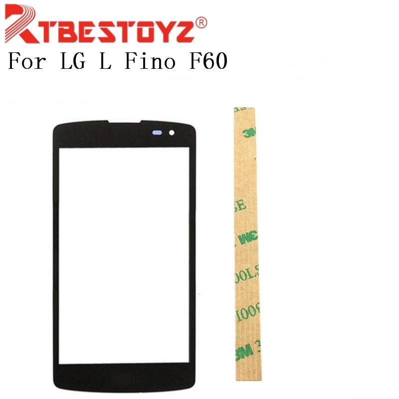 Rtbestoyz tela frontal toque de vidro exterior capa painel lente para lg l fino f60 d392 d290 d295 ms395 d390 tela sensível ao toque