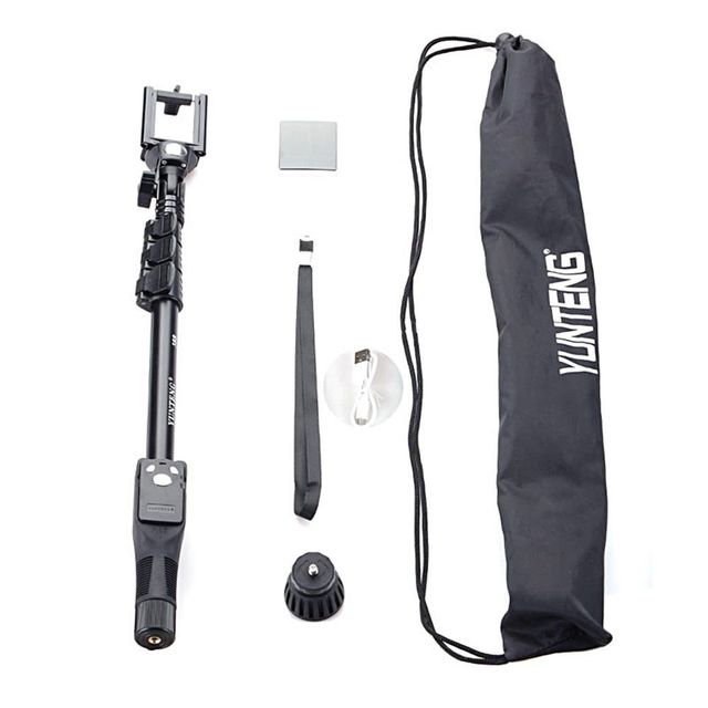 Yunteng 388 Bluetooth Extendable Self Stick Monopod Bluetooth Remote Control for Smartphone