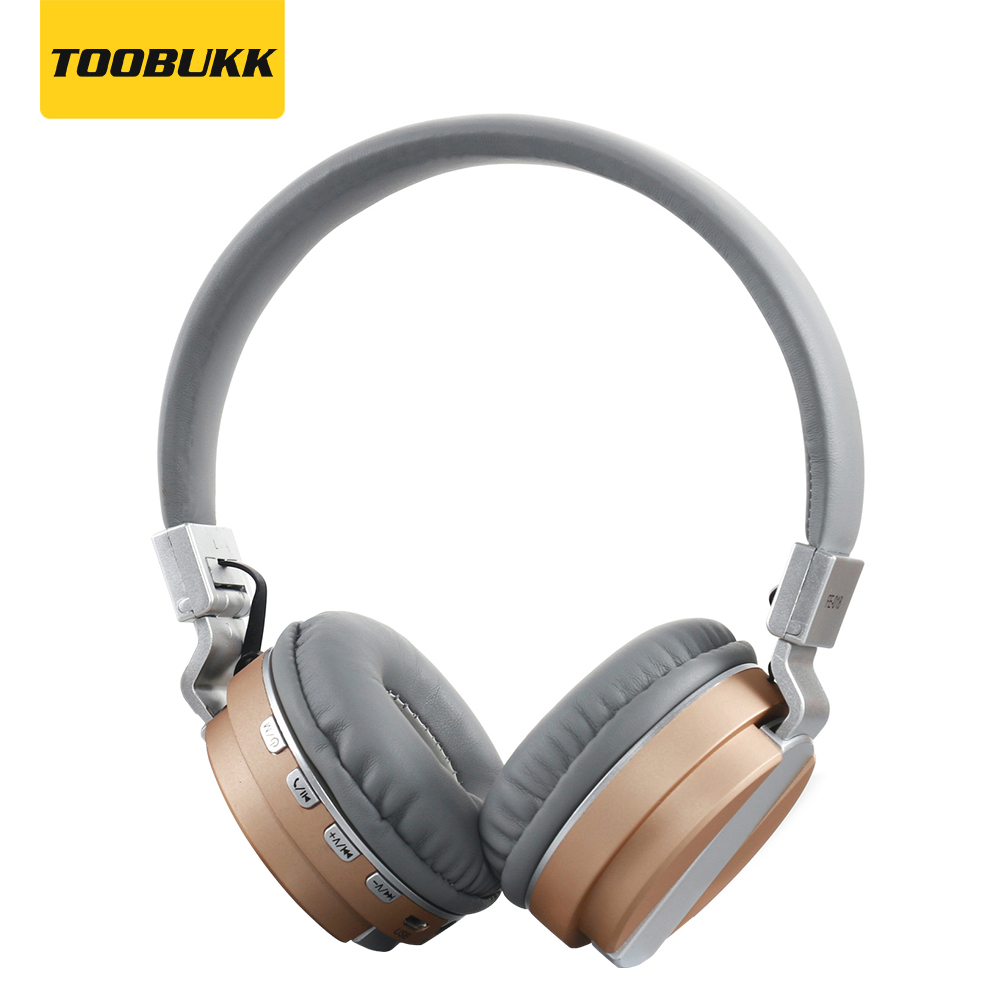 TOOBUKK Brand Portable FE-018 Foldable Bluetooth Headphone With Mic Wireless Sport Headset Support TF card For PC/Mobile phone 2016 new fashion brand sport headphones bluetooth wireless foldable headband headset cool led light headphone free shipping