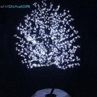 DVOLADOR Holiday Light LED Cherry Blossom Tree Light Luminaria 0.8M 1.2M 1.5M 1.8M LED Tree Lamp Outdoor Lighting for Christmas