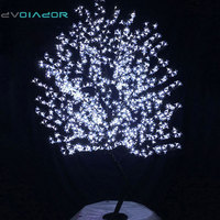 DVOLADOR Holiday Light LED Cherry Blossom Tree Light Luminaria 0.8M 1.2M 1.5M 1.8M LED Tree Lamp Outdoor Lighting for Christmas