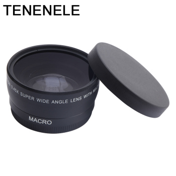 Camera Lens 0.45x 37 43 46 49 52MM Wide Angle Lens with Macro HD Optics Lenses For Canon Nikon Sony Fuji Camera Lens Accessories
