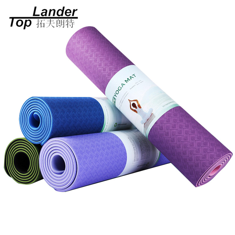 Folding Large Gymnastic Mats Thick Non-Slip Lose Weight Exercise Double Layer Double Color 6mm Yoga Mat Tpe Yoga Mat Pad chastep natural pvc yoga mat anti slip sweat absorption 183 61cm 6mm yoga pad fitness gym pilates sports exercise pad yoga mats