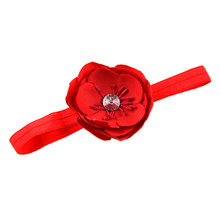 Infant Girl Baby Toddler Flower Headband red(China)