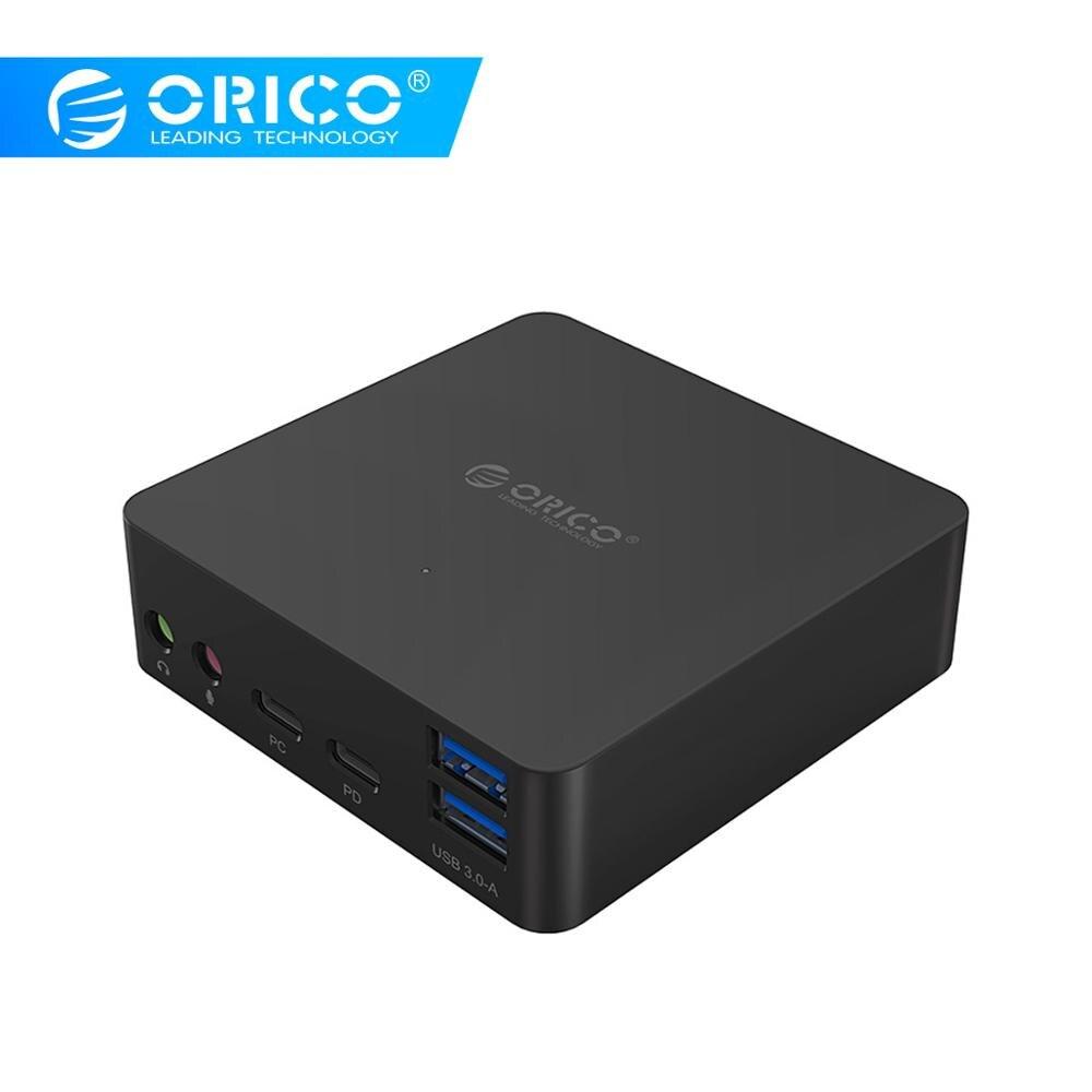 ORICO ADS4 type-c HUB USB3.0 HDMI multi-fonction hôte Mobile Dock d'extension RJ45 Microphone prise en charge type-c PD et DC 12 V