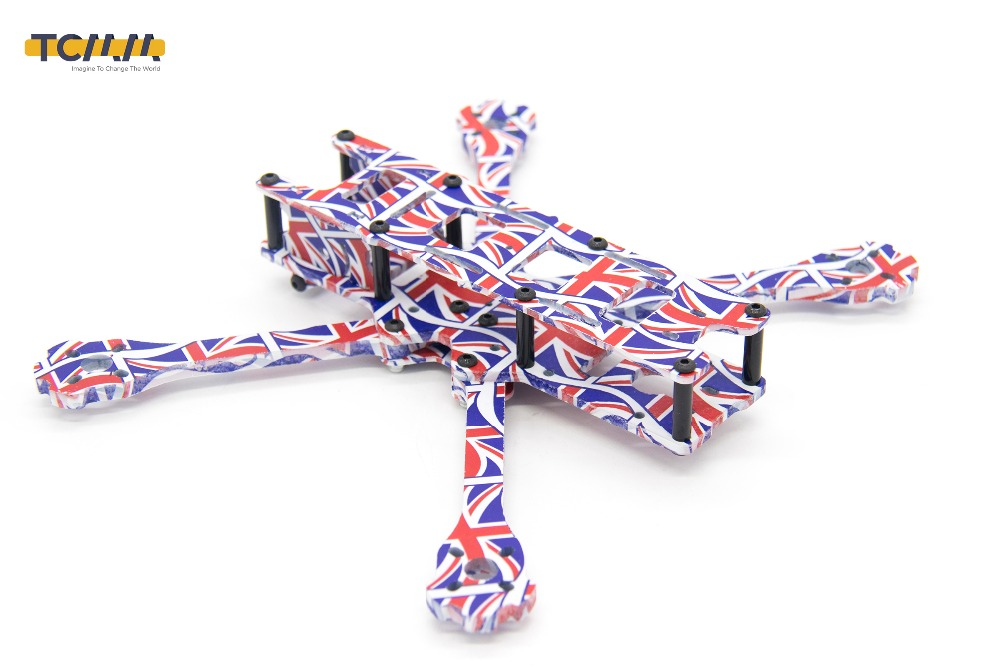 TCMM 5 Inch Drone Frame X220HV The Union Jack Printed Frame Kit Wheelbase 220mm Carbon Fiber For FPV Racing Drone-in Parts & Accessories from Toys & Hobbies