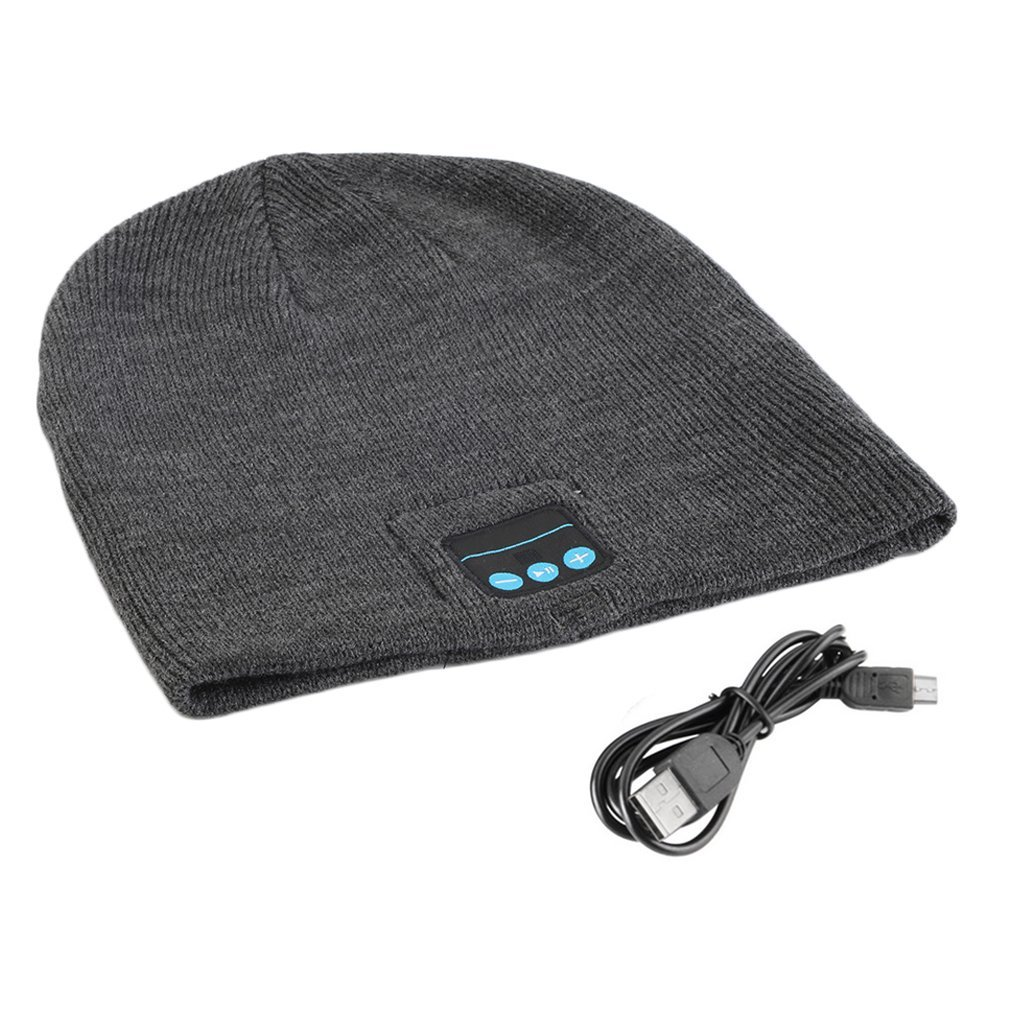 Unisex Smart Wireless Bluetooth Music Winter Warm Knitted Beanie Hat Headphones Cap With Handsfree Earphone