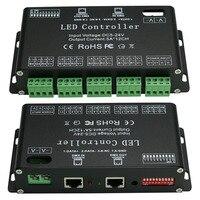 High Power DC5V 24V 12 Channels DMX 512 RGB LED Strip Controller DMX Decoder Dimmer Driver Use for LED Strip Module