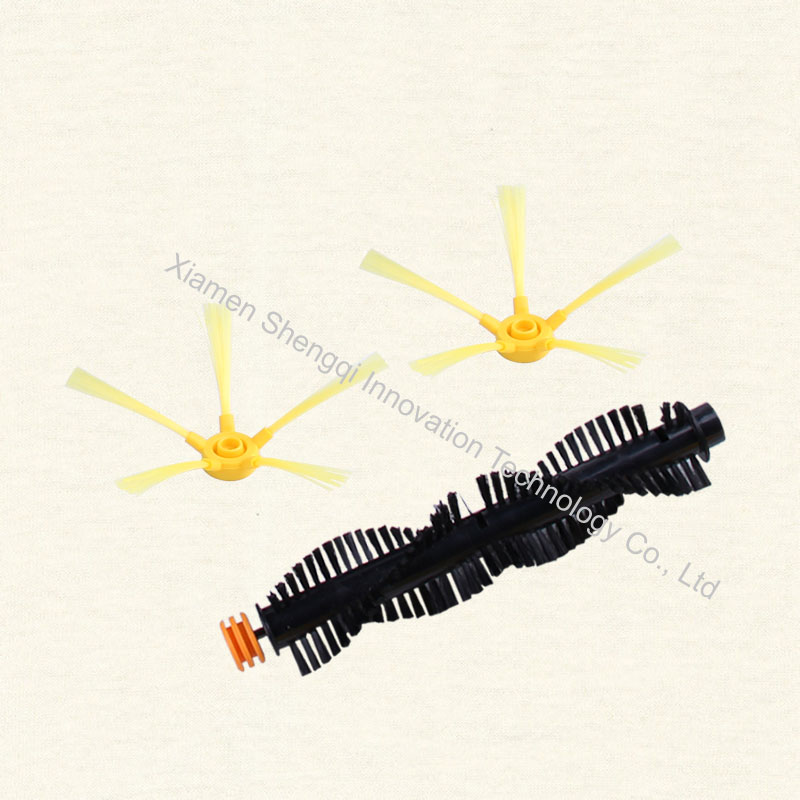 Original D5501 Robot vacuum cleaner Side Brush 2 Pcs and Hair Brush 1 Pc supply from the factory