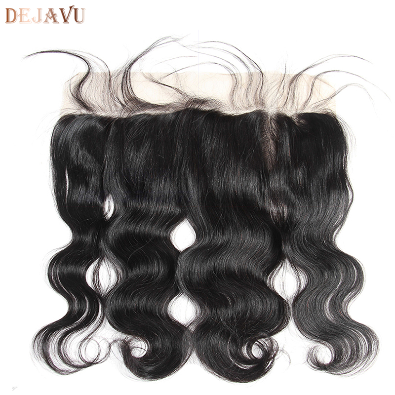 13x4 Frontal Brazilian Body Wave Hair Lace Frontal Closure Lace Ear To Ear 100% Human Remy Hair Closure Dejavu Hair