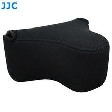 JJC 소프트 Mirrorless 카메라 가방 소니 A6100 A6600 A6500 A6300 A6000 캐논 M10 G3 X sx520에 대 한 작은 Neoprene 방수 케이스 파우치