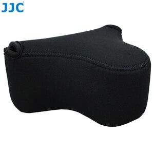 Image 1 - JJC רך ראי מצלמה תיק קטן Neoprene עמיד למים מקרה פאוץ עבור Sony A6100 A6600 A6500 A6300 A6000 Canon M10 G3 X SX520