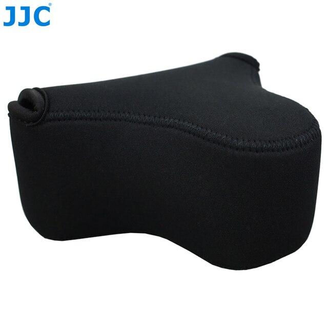 JJC רך ראי מצלמה תיק קטן Neoprene עמיד למים מקרה פאוץ עבור Sony A6100 A6600 A6500 A6300 A6000 Canon M10 G3 X SX520