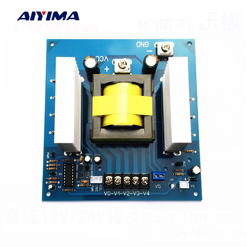 Aiyima DC AC High Frequency Inverter 1000W DC12/24V To AC220V 330V 380V 420V DC To AC Boost Module Inversor Board