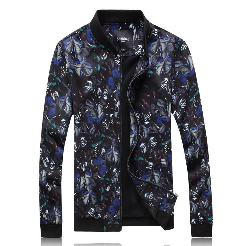 J18061 Creative couleur papillon motif 3d imprimer boutique veste hommes automne 2018 nouvelle qualité mode slim hommes vestes et manteaux