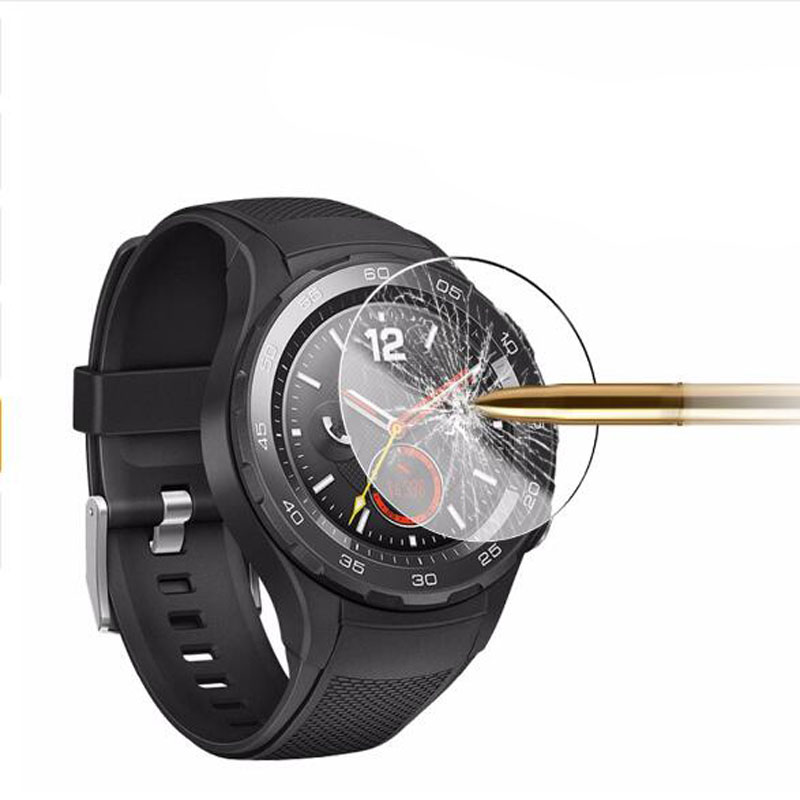Tempered Glass Clear Protective Film Guard For Huawei Watch 2 Watch2 Pro Smartwatch Toughened Screen Protector Cover Protection