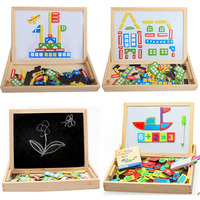 Writing Board Drawing Magnetic Puzzle Jigsaw Puzzles Kids Baby Games Toy Wood Children Puzzles Intelligence