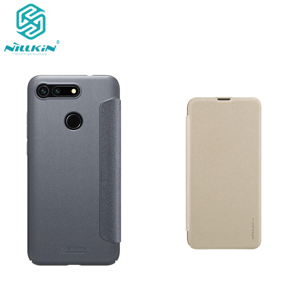 Case for Huawei Honor View 20 phone cover NILLKIN PU+PC carry case flip hard back cover hard plastic for huawei honor V20 case