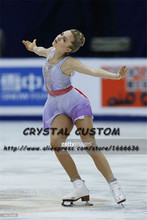 Crystal Custom Adult Figure Skating Dresses Graceful New Brand Ice Skating Dresses For Competition DR4355