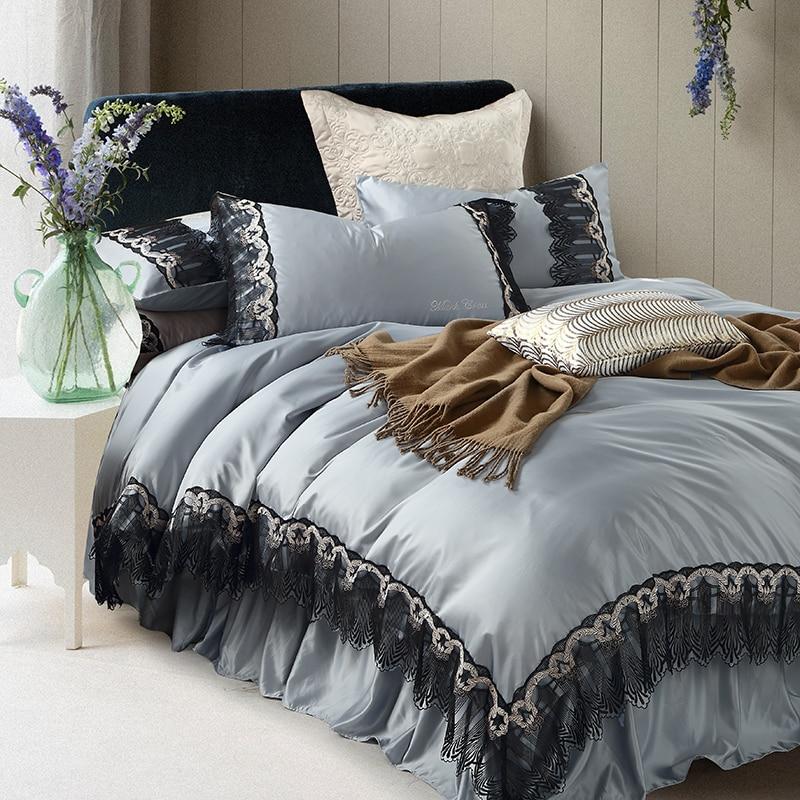 Svetanya Lace Princess Collection Bedding Sets Bedskirt Pillowcases Duvet Cover Set Svetanya Lace Princess Collection Bedding Sets Bedskirt Pillowcases Duvet Cover Set