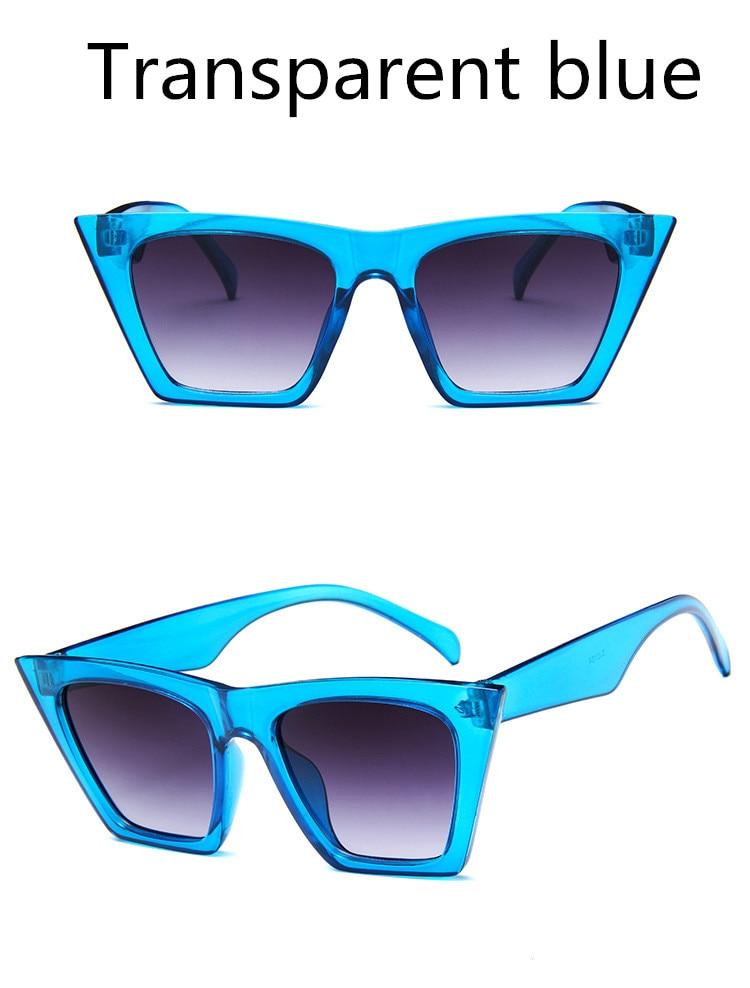 ASUOP2018 New ladies retro cat eye glasses high-end brand travel fashion men's sunglasses sports square UV400 transparent sunglasses (1)