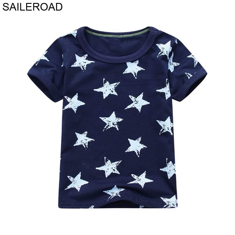 SAILEROAD Cotton Star Baby Boys Tops Tees T Shirt For New Summer Toddler Infant Kids Short Sleeve Clothes Fashion Boy's Clothing fashion summer kids boys clothing set 100% cotton short sleeve british and american flag t shirt and jeans boys clothes suits