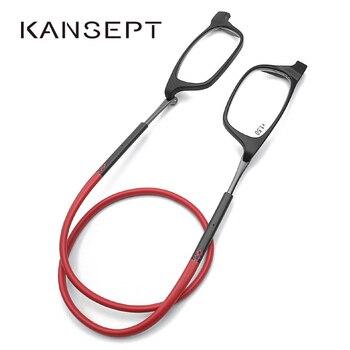cc8c3d5797 Gafas de lectura con imán mejoradas para hombres y mujeres con cuello  colgante ajustable y gafas