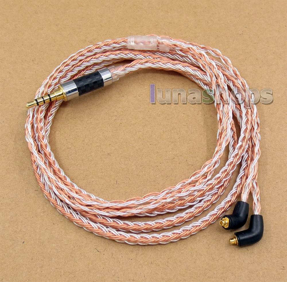 3.5mm 4pole TRRS Re-Zero Balanced 16 Core OCC Silver Mixed Earphone Cable For Etymotic ER4 XR SR ER4SR ER4XR LN005811 800 wires soft silver occ alloy teflo aft earphone cable for ultimate ears ue tf10 sf3 sf5 5eb 5pro triplefi 15vm ln005407