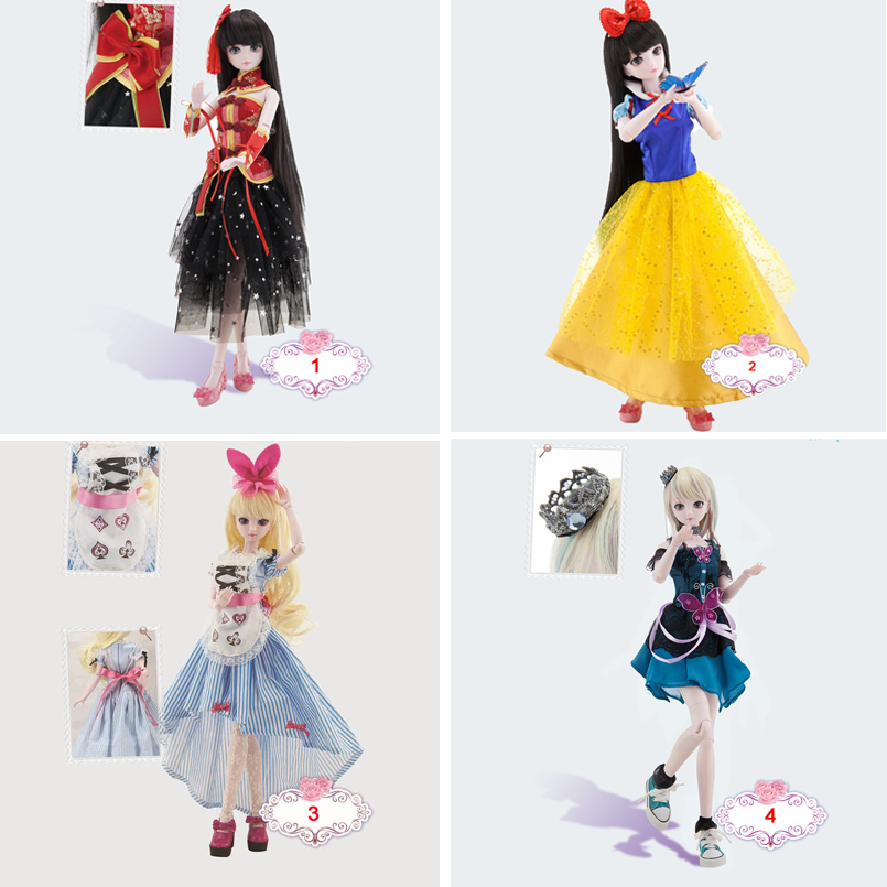 Abbyfrank 50CM Princess Doll Kung Fu Girl Cartoon Character Toys With Clothes Shoe Fashion BJD Dolls Model Gift For Girl Baby cartoon character doll model desk ornament gift toy