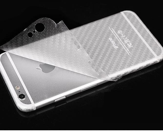 low cost 7da78 5d37a US $1.99 10% OFF|Carbon fiber skin Back Clear Film sticker For Iphone X XS  Max XR 8 7 7Plus 6 6S Plus 5 5S Clear skin protector Guard stickers-in ...