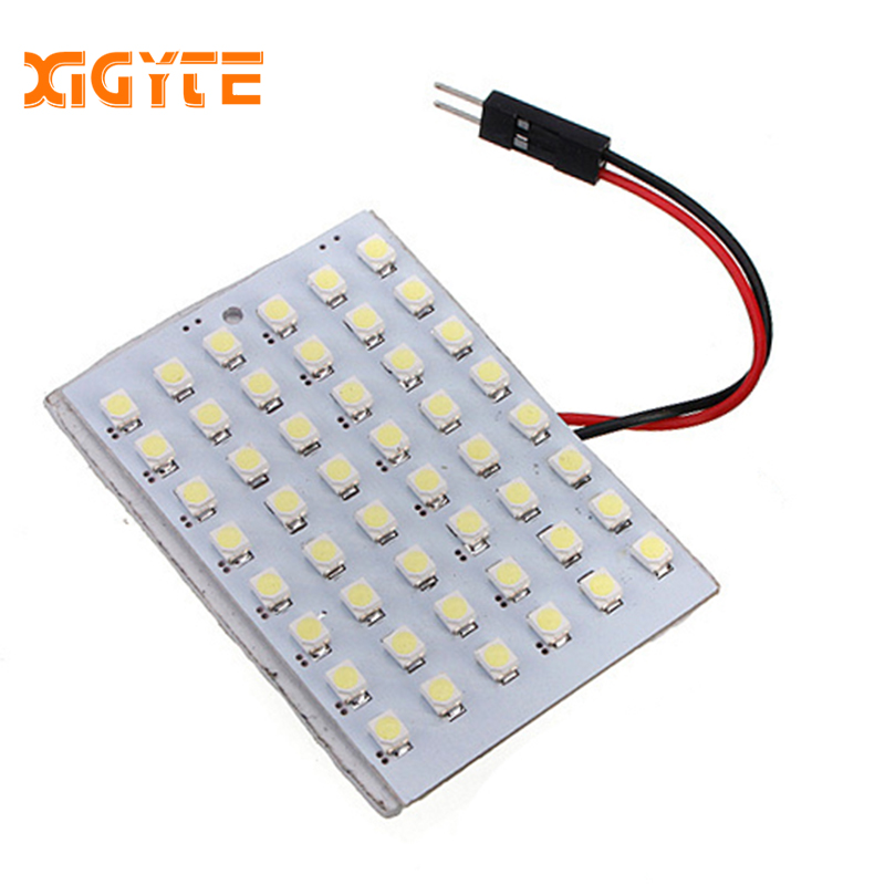48 SMD White Panel Led Car T10 BA9S Festoon Dome Interior Lamp Lights For W5w C5w T4w Led Bulbs Auto Lamp 12V Auto Accessories