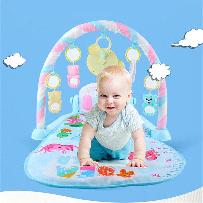 Tapis de jeu pour bébé tapis pour enfants tapis de Puzzle éducatif avec clavier de Piano et tapis de jeu mignon pour animaux - 2