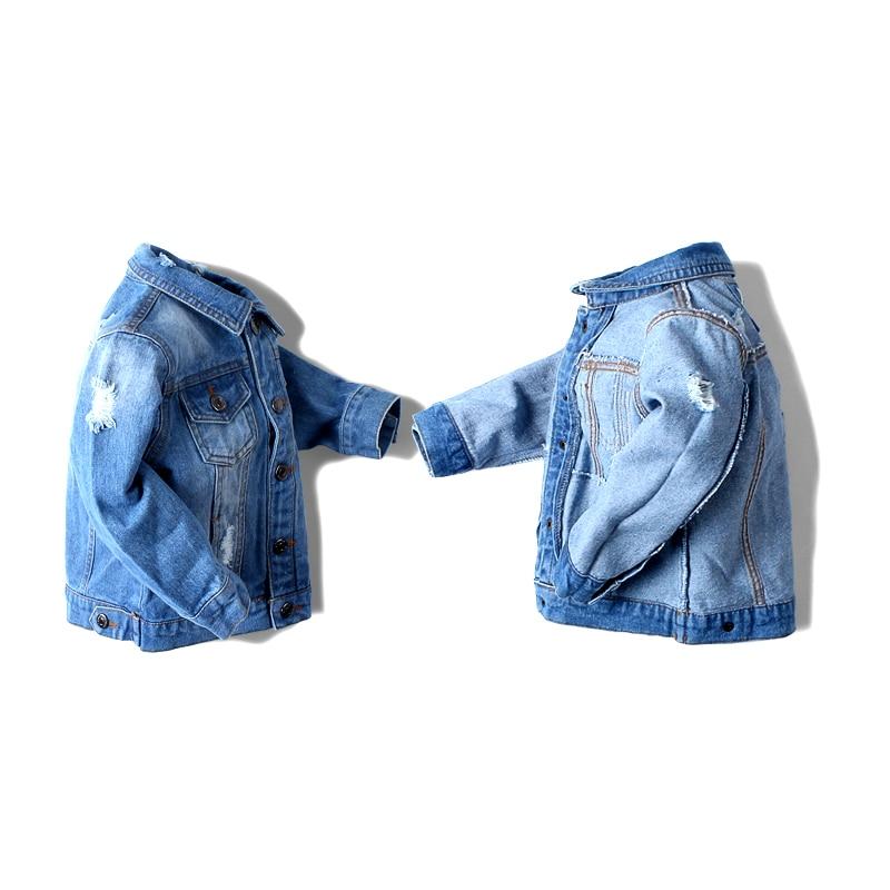 460e2850382c 2017 Baby Boy Denim Jacket Leisure Coat Children Kids Jeans Boys ...