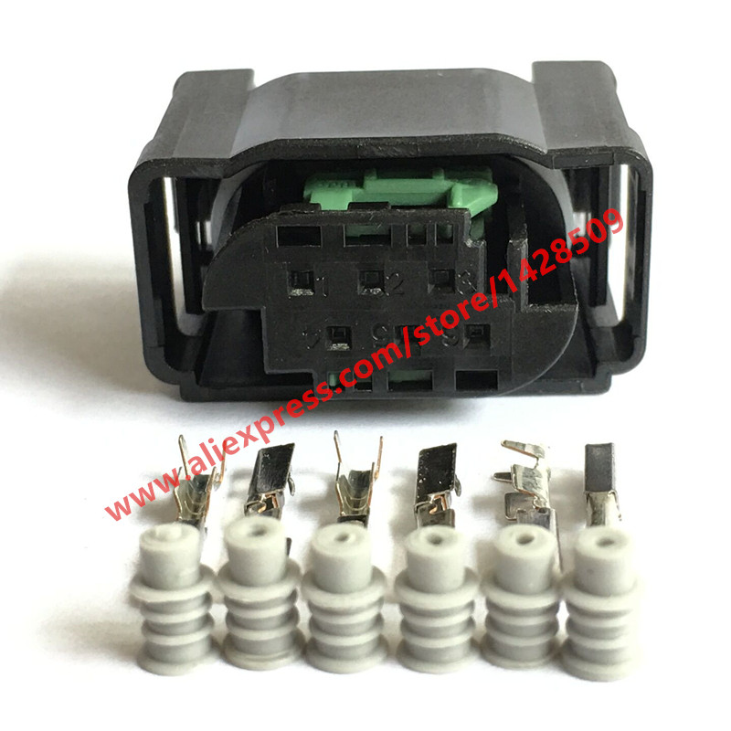 6 Way Tyco Accelerator Pedal Plug 1-967616-1 7M0 973 119 For BENZ BMW Throttle Valve Sensor Connector