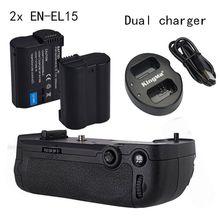 Майке Вертикальная Батарея ручка для Nikon D7100 D7200 как MB-D15, 2 * EN-EL15 двойной зарядное устройство
