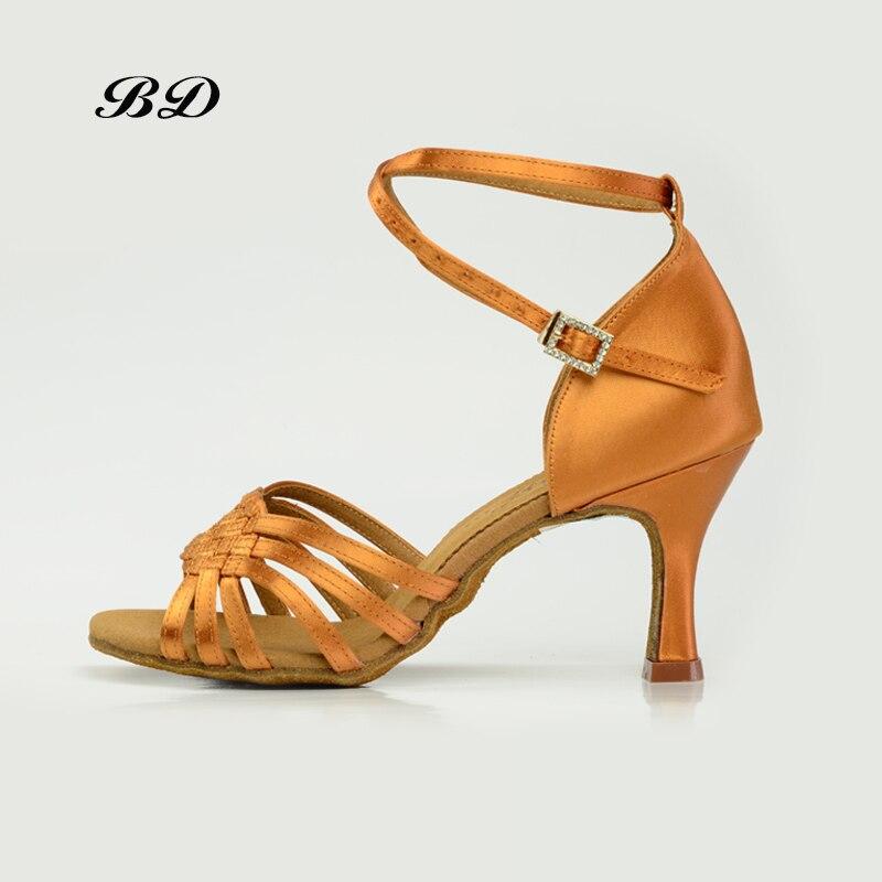BD 2360 SUPERIORE Ballo Scarpe Da Ballo Delle Donne Latino scarpe Danza Scarpe DONNA Tacchi Alti Rumba BDDANCE Autentico Comodo Collare Trapano