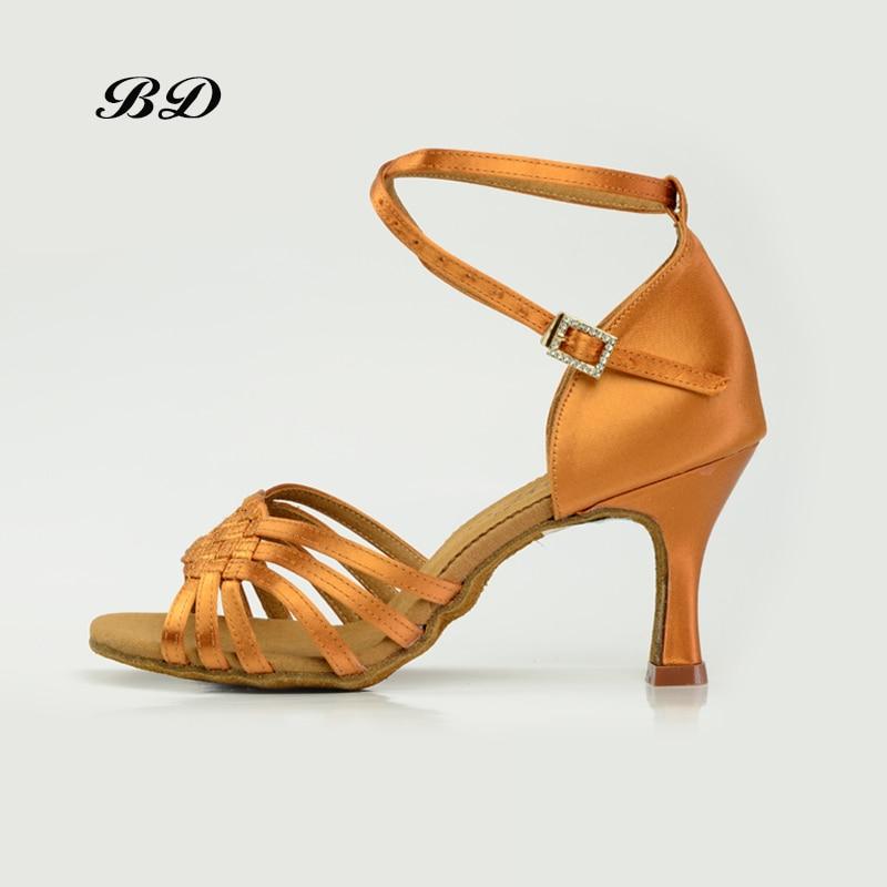 BD 2360 TOP Chaussures De Danse Salle De Bal Femmes Latine chaussures de Danse FEMME Chaussures Talons hauts Rumba BDDANCE Authentique Pratique Collier de Forage