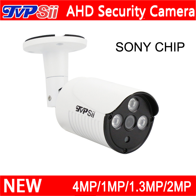 Neue Fall Drei Array Leds 1mp/1.3mp/2mp/4mp/5MP Weiß Farbe Metall Fall Außen AHD überwachung CCTV Kamera Freies Verschiffen