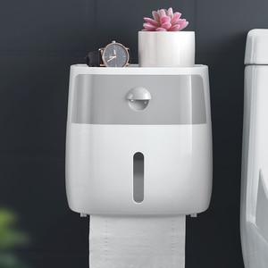 Image 3 - 무료 배송 방수 벽 마운트 화장지 홀더 선반 화장지 트레이 롤 종이 튜브 보관 상자 크리 에이 티브 트레이